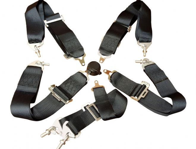 "Seat Belt Harness 6 Point Mounting 3"" Straps - NOT AVAILABLE"